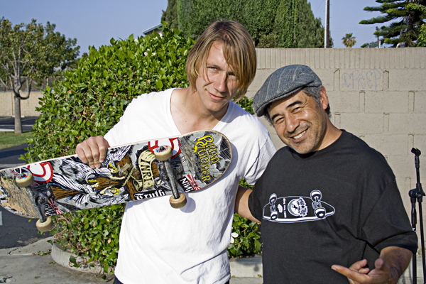 Working on SkateBible DVD project with Cab…