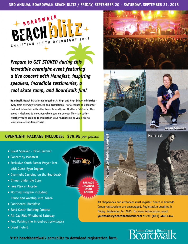 Santa Cruz Boardwalk Beach Blitz Outreach!