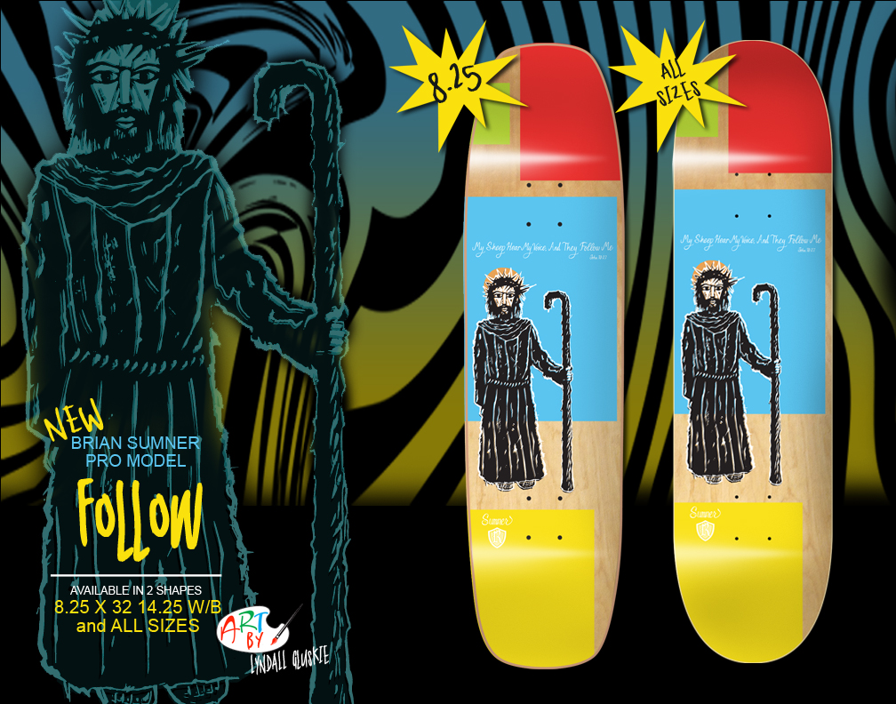 "Newest ""Follow"" skate deck just landed in the shop. Check it out by clicking below."
