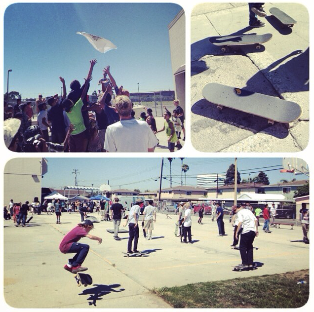 "Recent event at Oakview! Big skate jam with ""Beyond Sight"" movie showings after and The Gospel. Yes, God dealt with hearts † ; )"