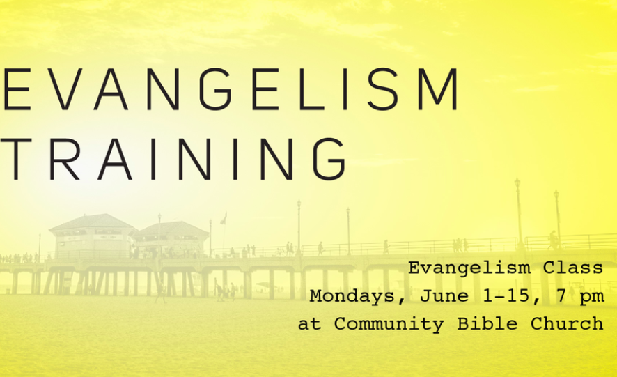 "Our upcoming ""Missions"" Evangelism course begins Monday June 1st."