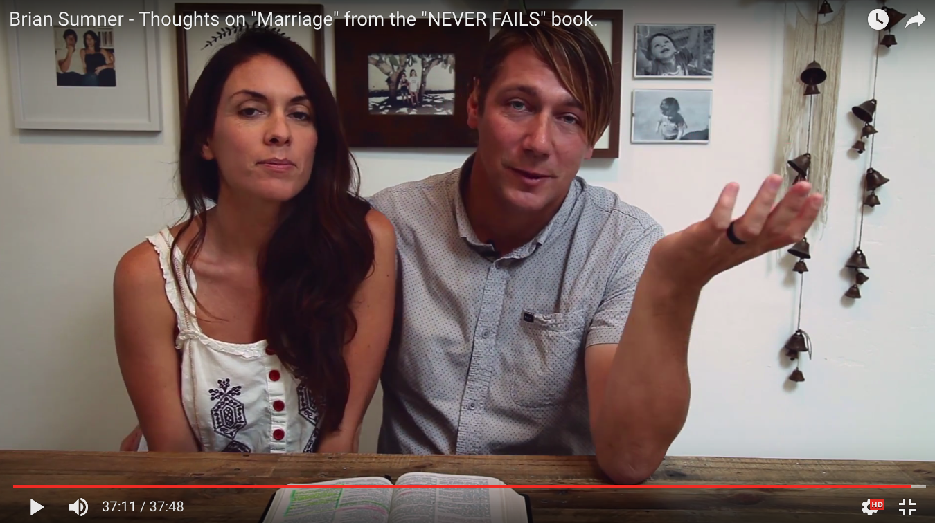 """Thoughts on """"Marriage"""" from the first five chapters of the """"Never Fails"""" book."""