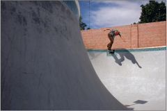 Back tail in pool