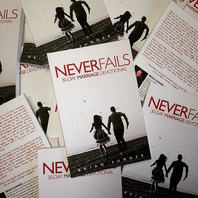 """Excited to say we have gotten approx 1200 """"Never Fails"""" books out so far. As a self published marriage resource our goal is to get to 5000. In doing so that allows for us to give even more books away. The goal being that anyone who needs this book can get it, one way or another. YOU CAN HELP, by letting people know about this book, and also IF YOU HAVE READ IT, by writing a review on Amazon. Please pray for those reading it, and their marriages. Second book on the way, as an apologetics book hidden with in an auto-biography. What do I wish I could of read at 18 before life got flip turned upside down? So why not write something for other 18 year olds? Tag people and share please. Link to purchase for personalized copies in bio. #neverfailsbook #neverfails #love #loveneverfails #Jesus #jesuschrist #marriage #married #divorce #hope @sola.fide"""